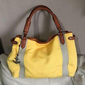 Lauren Ralph Lauren Canvas Leather Bag Nautical